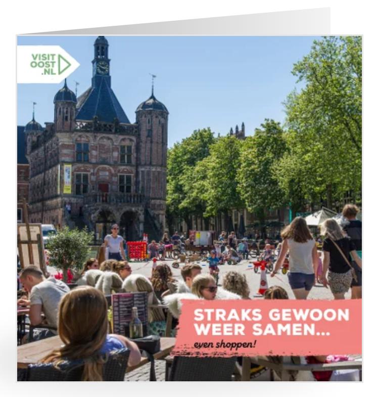 Gratis kaartje 'uit Overijssel' versturen incl. porto (Kaartje2go)