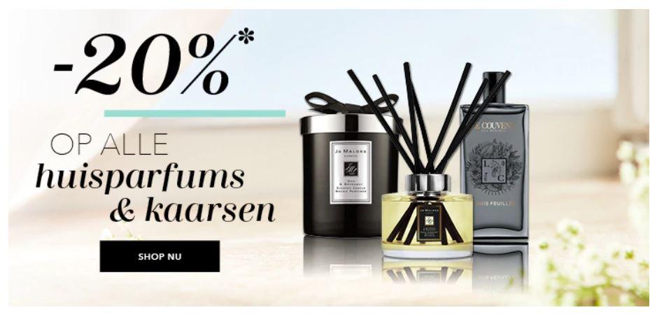 Huisparfums & geurkaarsen -20% - ook RITUALS @ Douglas