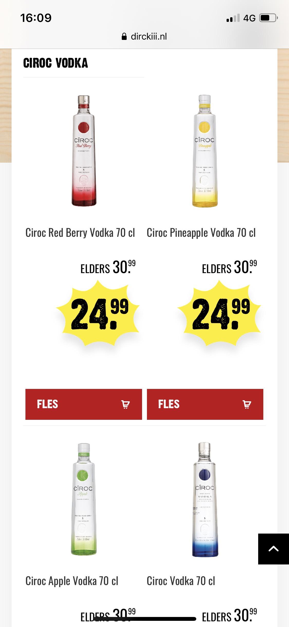 Ciroc vodka nu voor €24,99