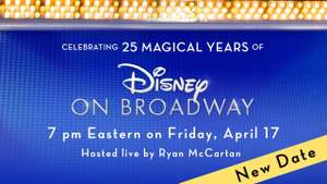 Disney on Broadway 25th Anniversary Concert (benefiet) @ YouTube