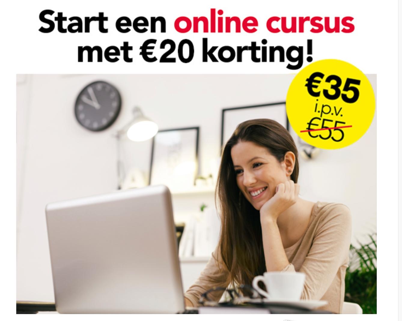 Online cursussen van €55 voor €35 @Etadoro