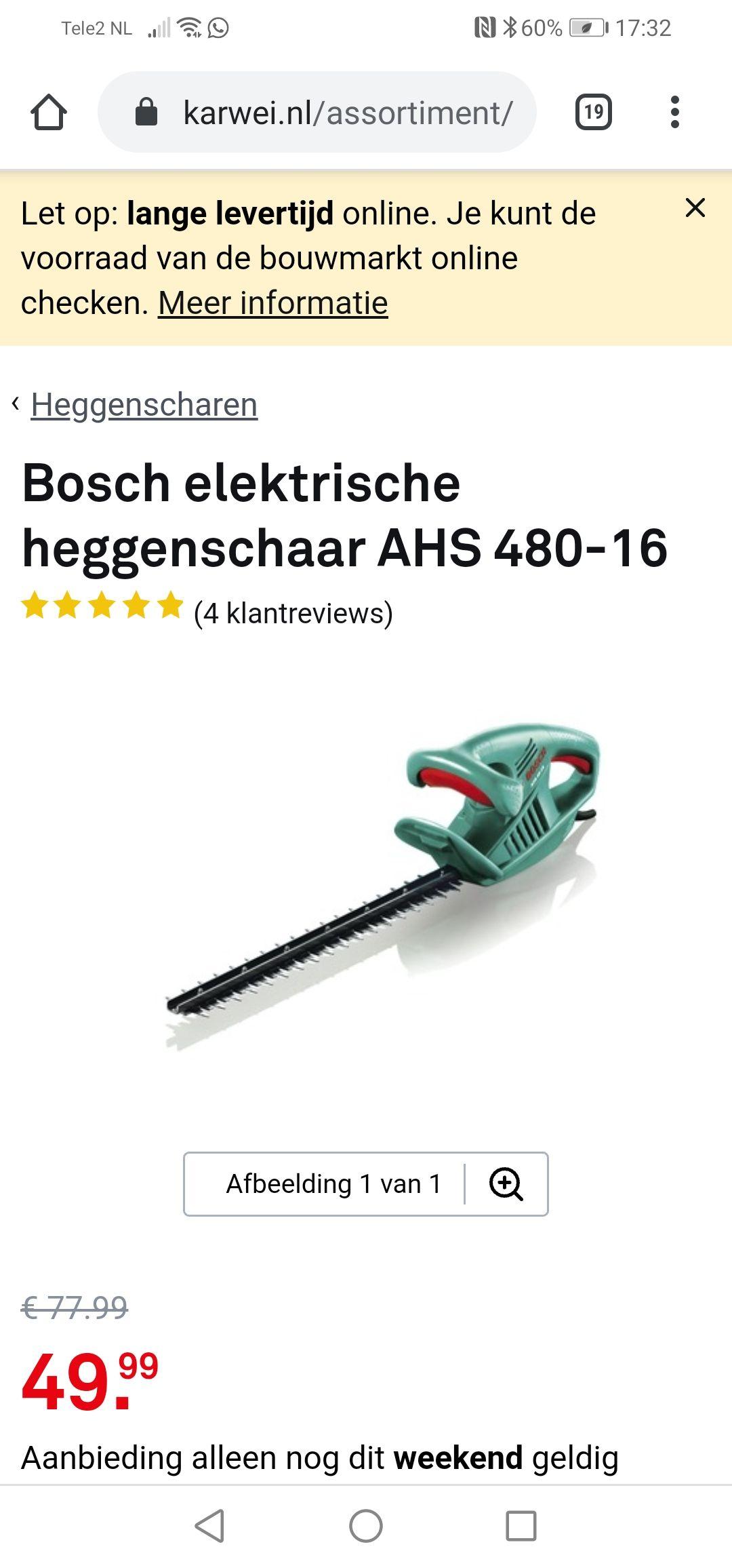 Bosch tuin accessoires cadeau tot € 169,95