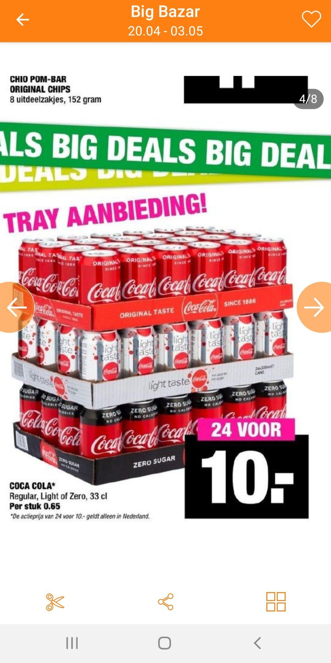 BIG BAZAAAR DEAL Coca-Cola 24Pack VOOR MAAR 10EU