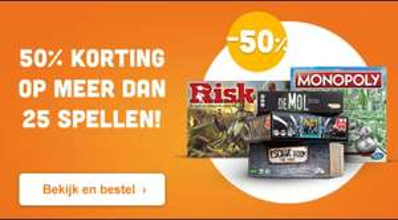 50% korting op 25 spellen @Eurosparen