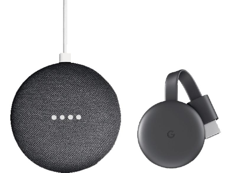GOOGLE Nest Mini zwart + Chromecast