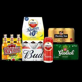 1+1 gratis op Desperados of Amstel of pilsners van Hertog Jan, Grolsch of Bud