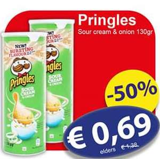 [Die Grenze] Pringles Sour Cream & Onion 130 gram