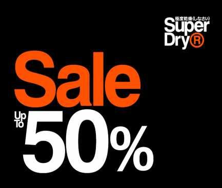 Midseason sale tot -50% @ Superdry (veel keuze)