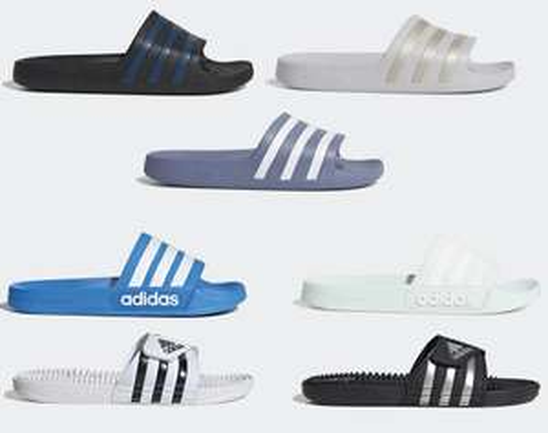 Adidas Adilette/Adissage Badslippers voor €12,05/€13,10 per paar inc verzending @ Adidas