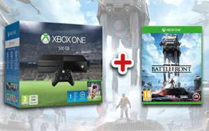 Xbox One Console (500 GB) + FIFA 16 + Star Wars Battlefront voor €309 @ Game Mania