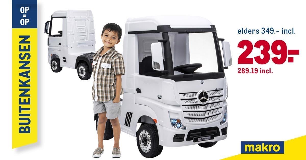 Bij Makro Mercedes e-vrachtwagen, gewoon te cool om niet te noemen en nog een mooie prijs ook.