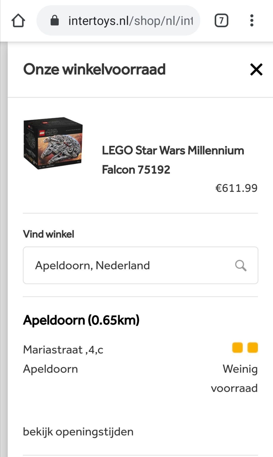 [Lokaal] Lego Star Wars Millennium Falcon 75192
