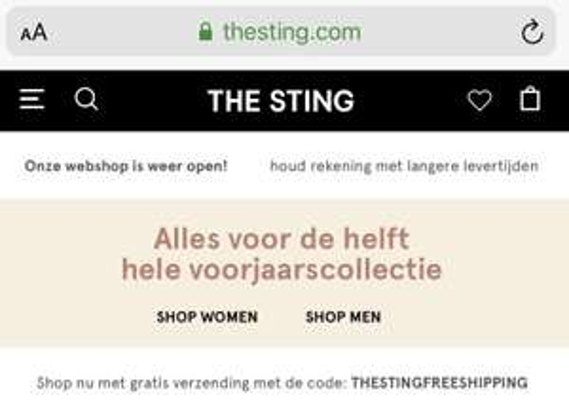 The Sting Aanbiedingen & Kortingscodes voor november 2020