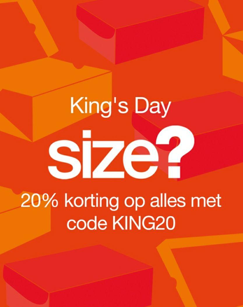 20% Kingsday korting bij Size?