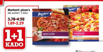 Veel 1+1 gratis @ Emté - 2 pizza's voor €1,89