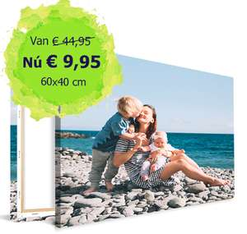 Canvas van 60x40 cm met eigen foto voor €9,95 inc. verzenden @ Canvas Company
