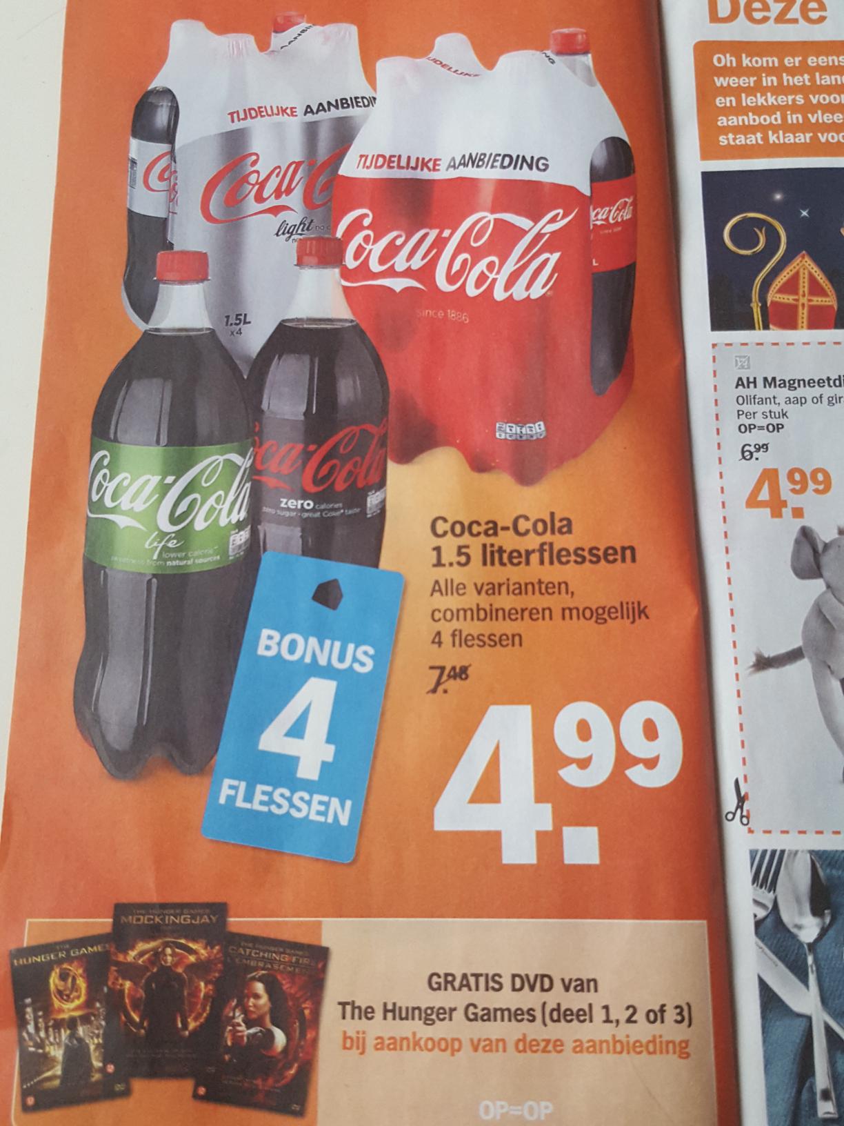 Hunger games deel 1,2 en 3 + 12 flessen Coca-Cola @AH