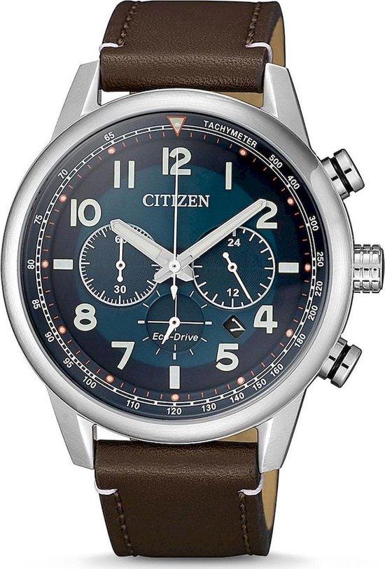 Citizen Eco-Drive Chronograaf CA4420-13L - Leer/Staal - 10BAR - Herenhorloge [Bol.com]