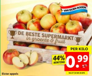 1 kilo Elstar appels voor maar €0,99 bij Lidl!