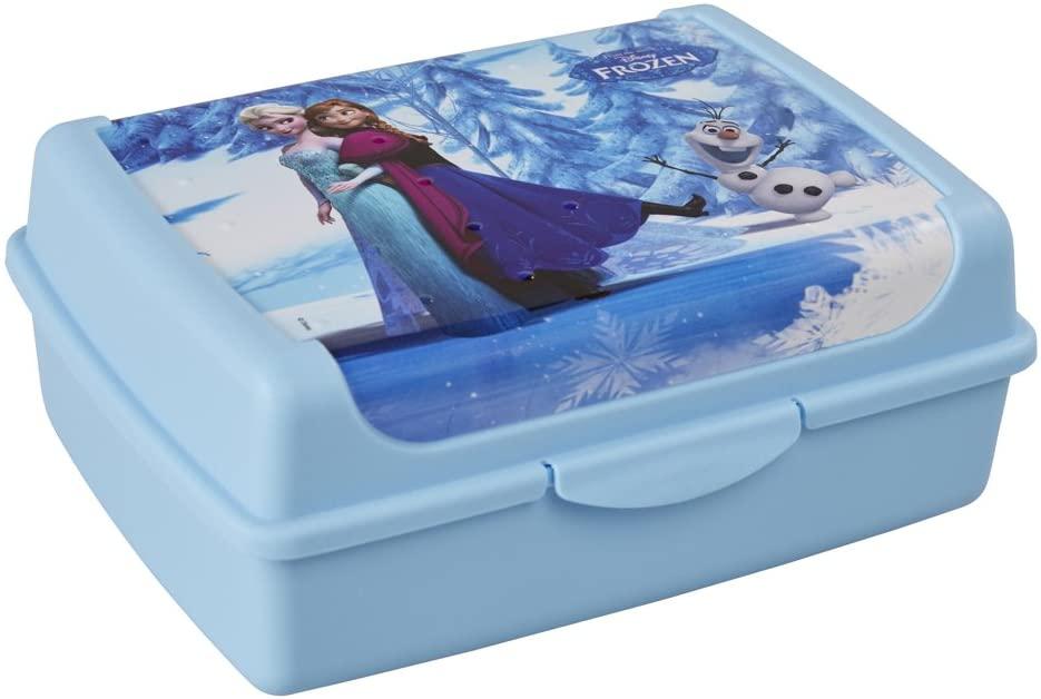 Keeeper Disney Frozen broodtrommel met kliksluiting, 17 x 13 x 7 cm, 1 l, Olek, blauw