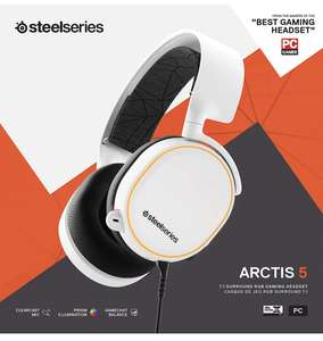 Steelseries Arctis 5 2019 wit