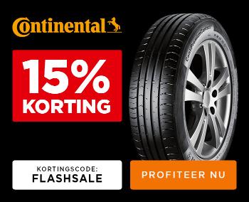 15% korting op Continental banden