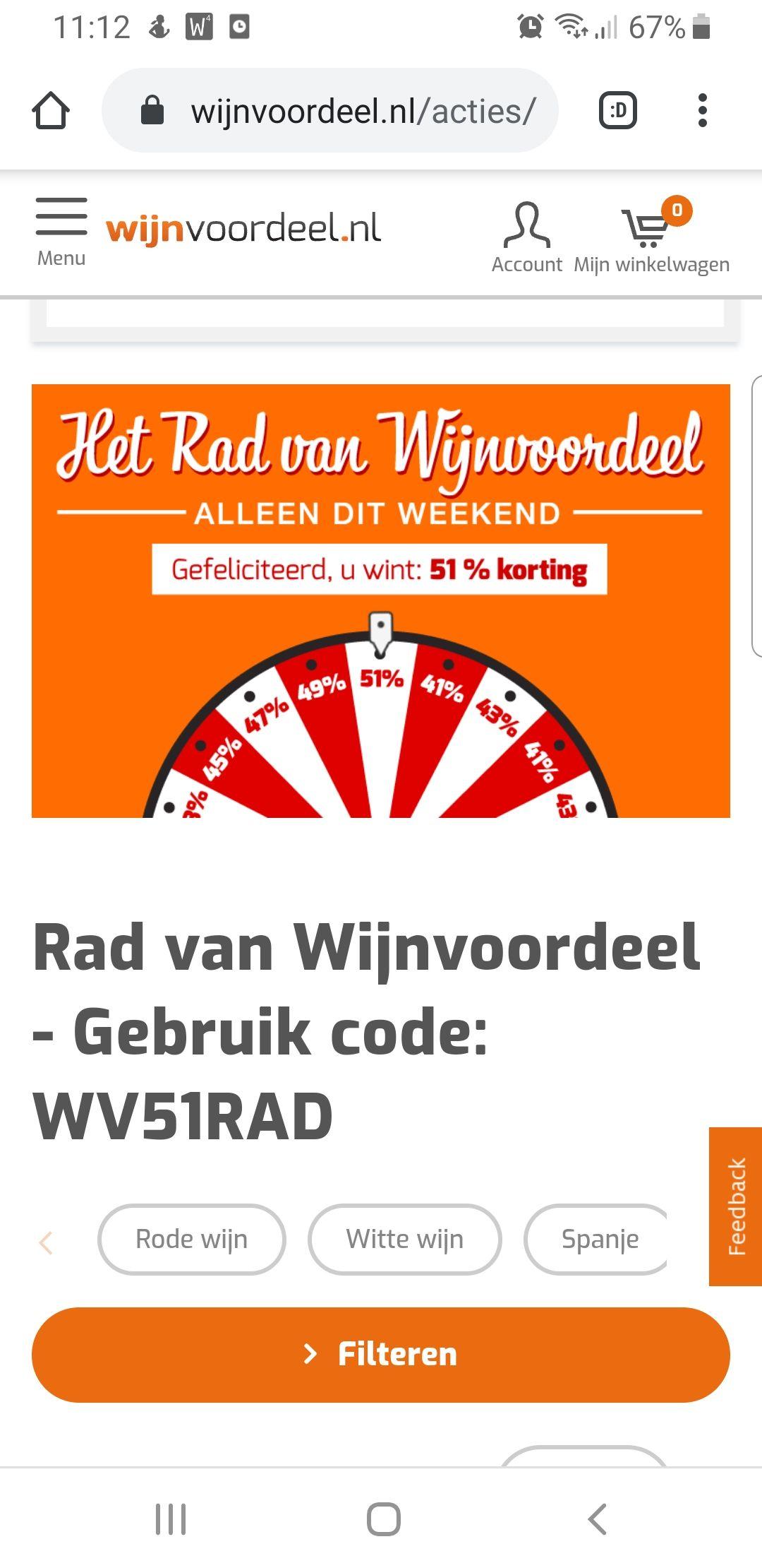 51% korting op de wijnen van wijnvoordeel.nl
