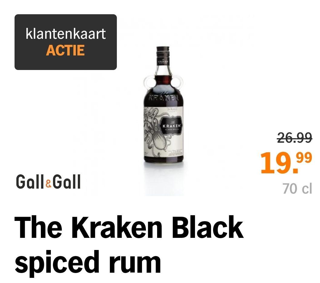 Kraken Black Spiced Rum voor Gall&Gall kaarthouders