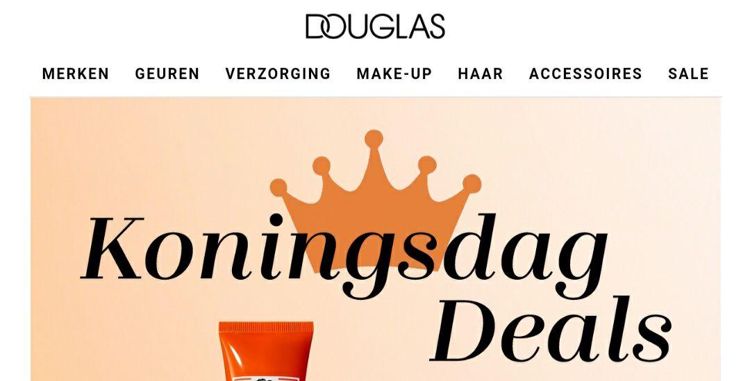 Douglas: koningsdag deals, verschillende oranje producten met korting