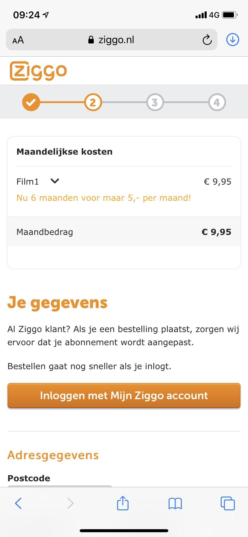 Film1 nu 6 maanden voor 5 euro per maand bij Ziggo