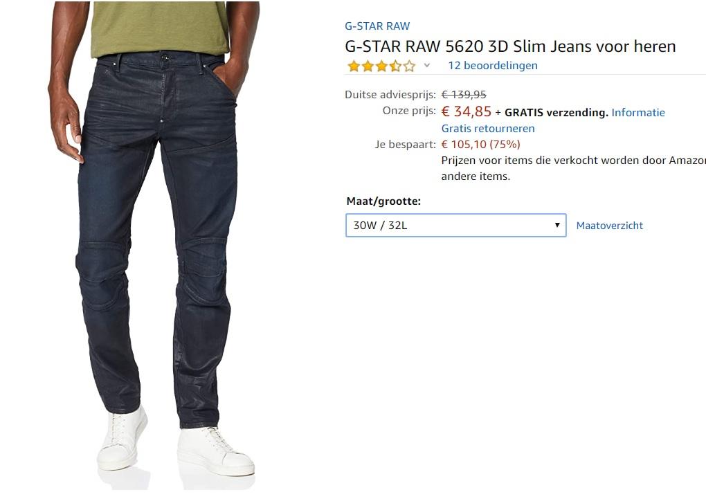 G-STAR RAW 5620 3D Slim Jeans voor heren