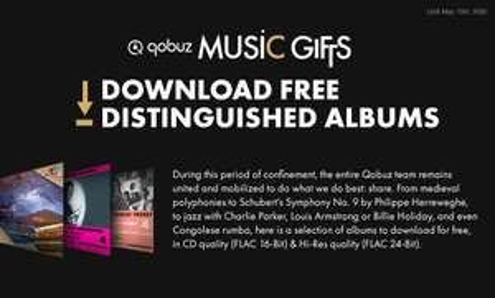 Gratis Hi-Res muziek Albums downloaden via Qobuz o.a. klassiek, jazz en blues