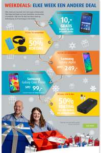 Samsung Galaxy Alpha 32GB - €249 of Samsung Galaxy Core Prime 8GB - €99 (Weekdeals) @ Belcompany