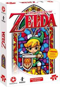 The Legend of Zelda Link The Hero of Hyrule - 360pcs legpuzzel in glas-in-loodraamvorm + poster voor €8,69 @ Amazon NL