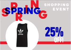 Spring shopping event 25% extra korting