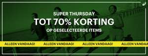 Veel items -70% + 10% extra @ Asics Outlet