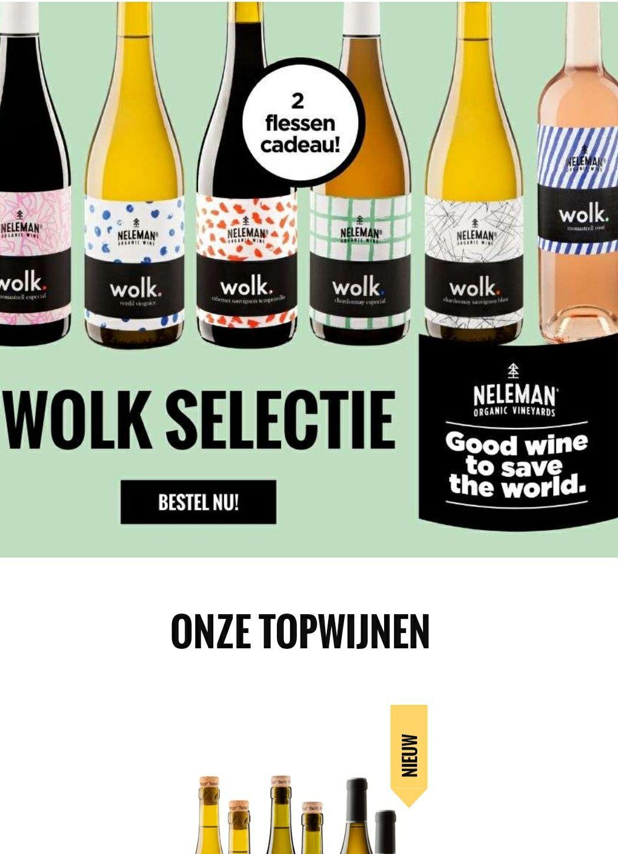Neleman wijnen €10,00 korting bij 2 dozen