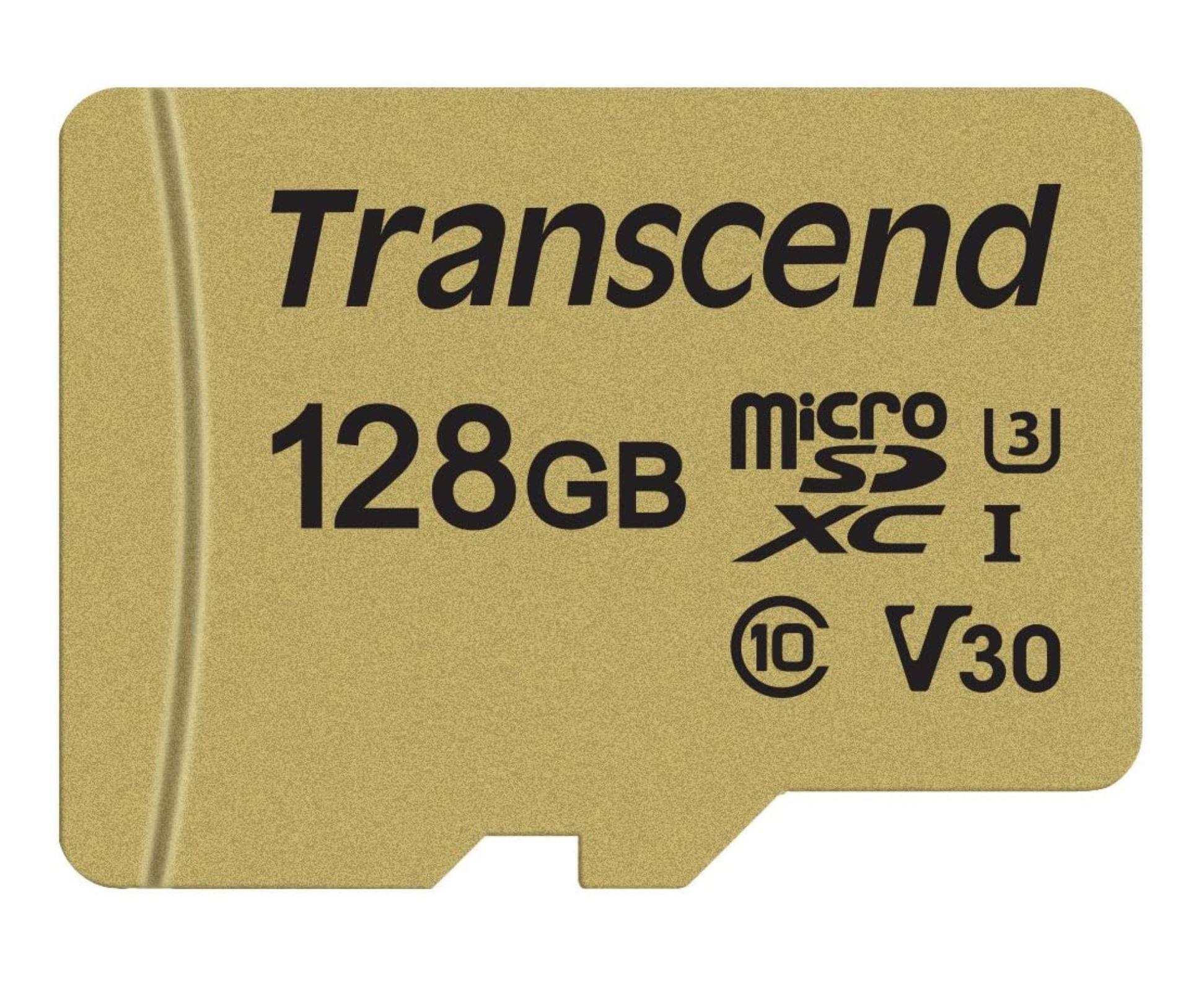 Transcend Micro SDXC | 128GB | C10 | Flash Geheugen