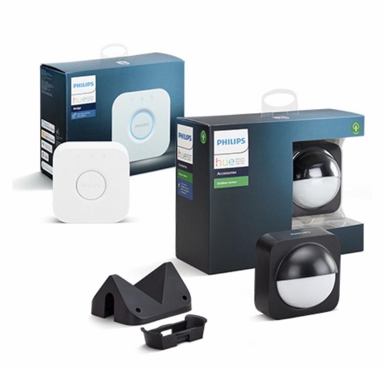 Gratis Hue Sensor of Bridge bij aankoop van 200 euro aan Hue tuinverlichting
