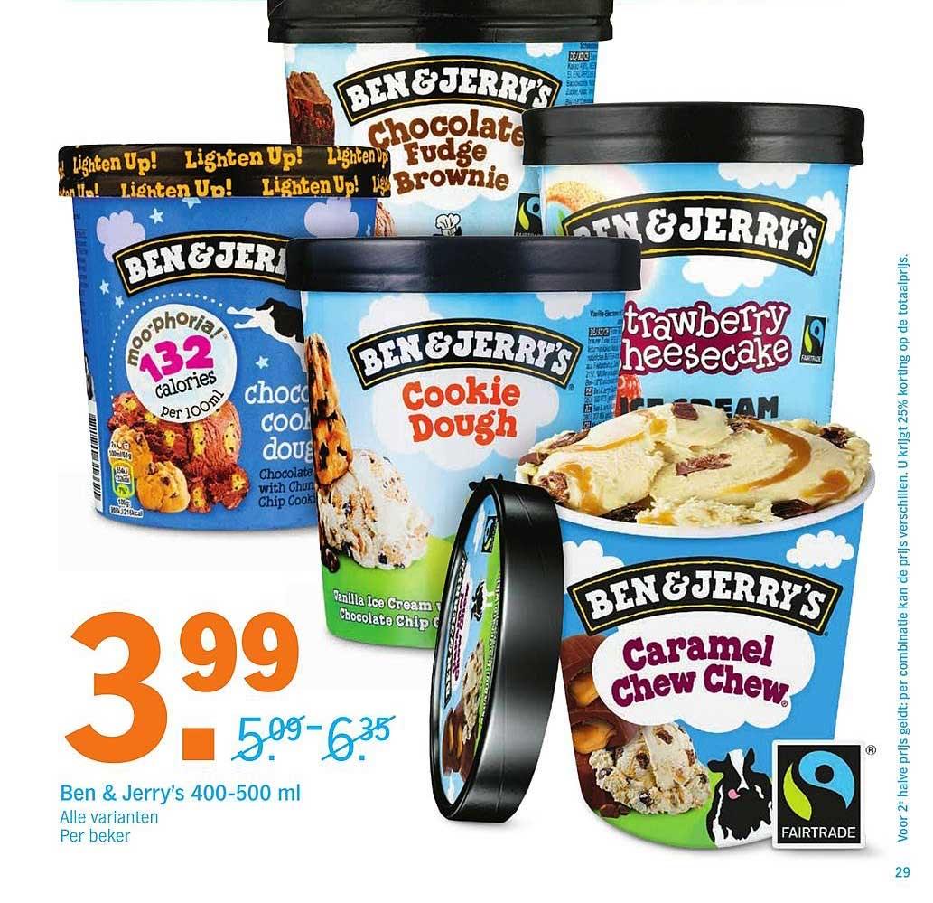 Ben & Jerry's bij appie 3,99