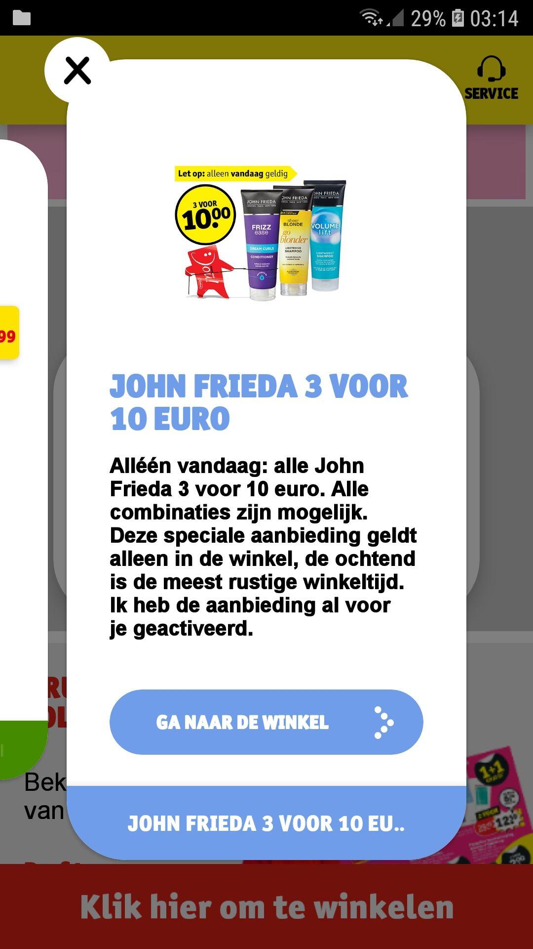 @KRUIDVAT John Frieda ~ 3 voor €10,- ~ met geactiveerde voordeelkaart!
