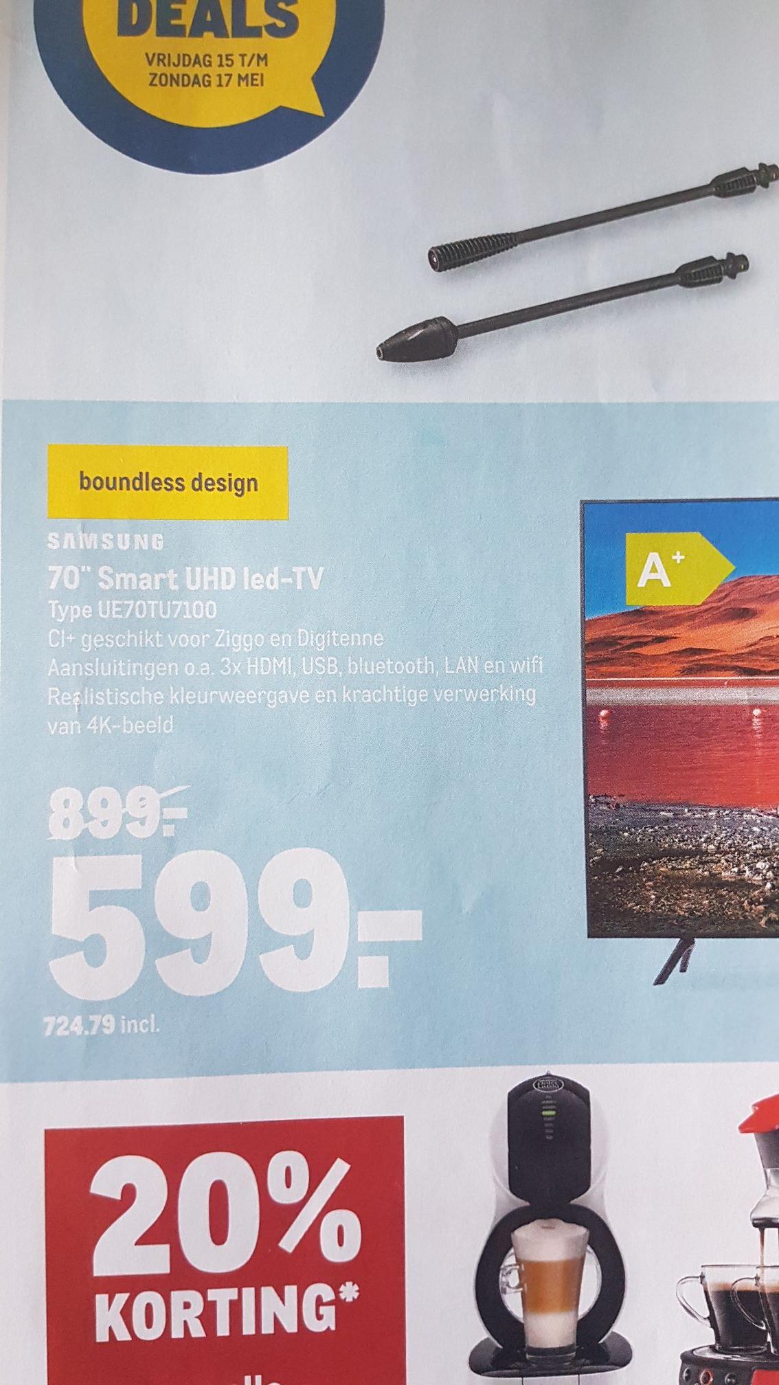 Samsung 70 inch TV UE70TU7100 bij Makro