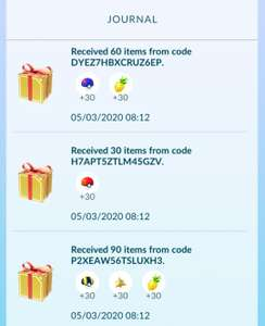 Pokemon GO voor gratis: 60 Pinap berries, 30 Max Revive, 30 Poke balls, 30 Great balls en 30 Ultra balls