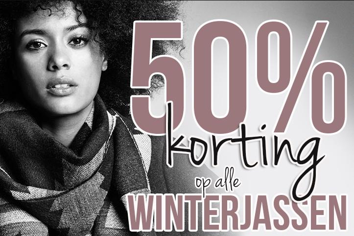 50% korting op ALLE winterjassen @ Intercity