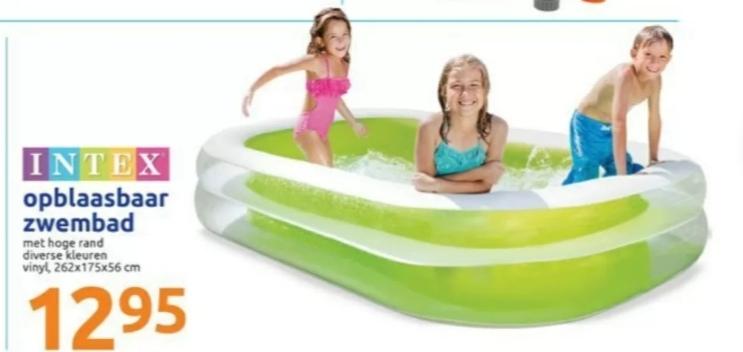Intex Opblaasbaar zwembad 262 cm x 175 cm x 56 cm @ Action