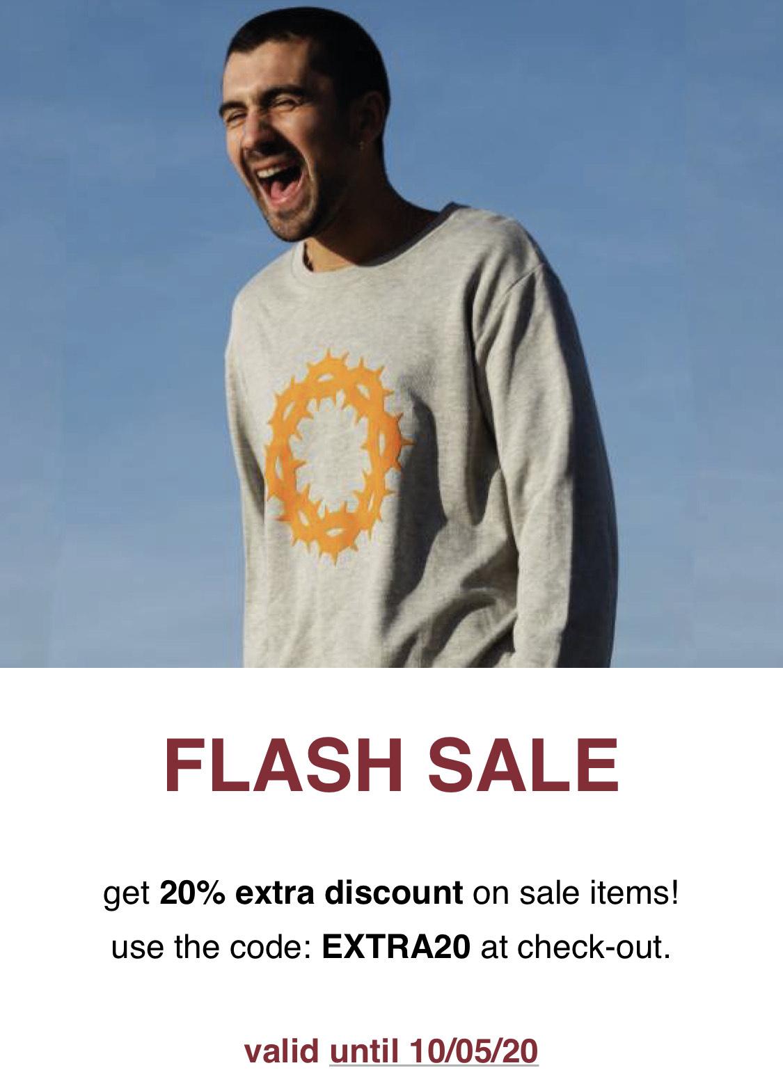 Extra 20% korting op de sale bij G-sus