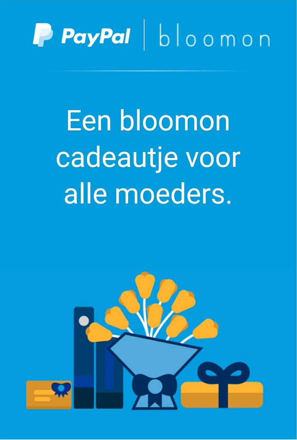 Gratis kaartje bij bestelling bloemen voor Moederdag @ Bloomon