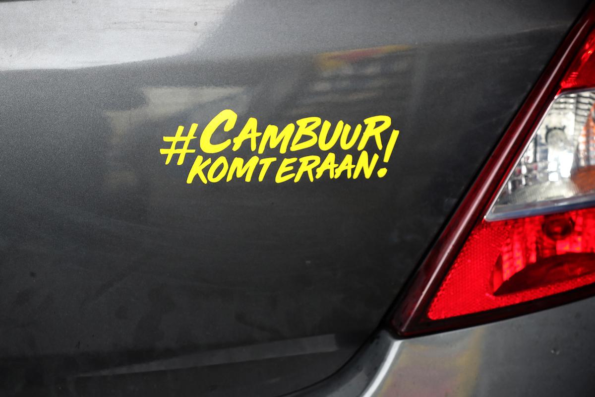 Gratis Cambuur Komt Eraan! autosticker
