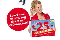 [Loterij] 1x meespelen €14 en krijg €25 giftcard HEMA/ H&M/ C&A