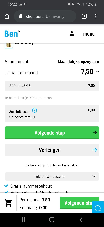 GEEN AANSLUITKOSTEN: Gratis geld met Ben.nl abonnement
